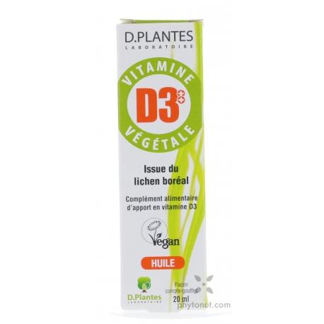 Vitamine D3 végétale 400UI