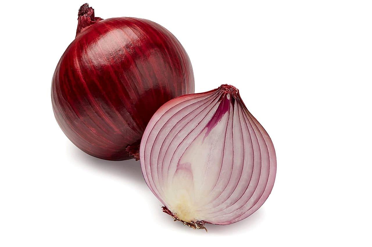 Oignon rouge : un des aliments riches en polyphénols.
